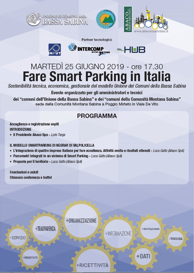 FARE SMART PARKING IN ITALIA - Evento Abaco SmartCities / Abaco Mobility